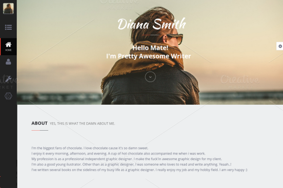 Diana Personal HTML Theme