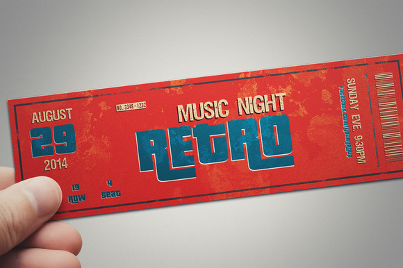 Multipurpose Retro Ticket Template