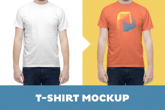 T-Shirt Mockup Template Male Model
