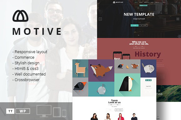 Motive Portfolio Blog Theme