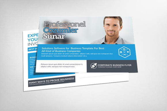 Corporate Business Postcard Template