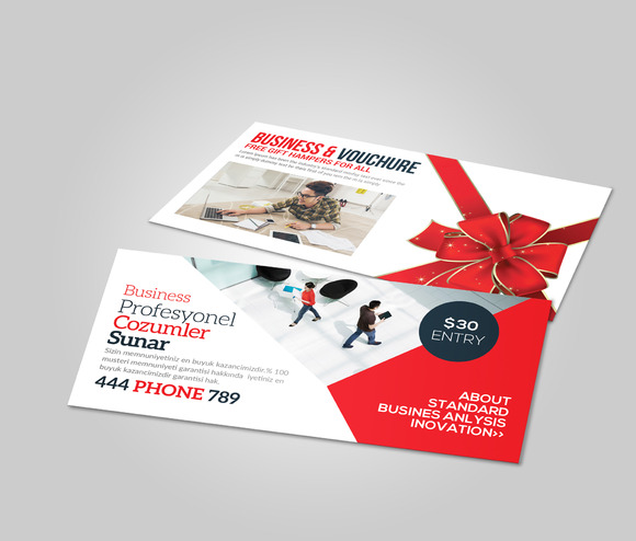 Multiuse Business Gift Card Vouchre