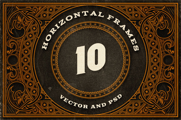 10 Decorative Horizontal Frames
