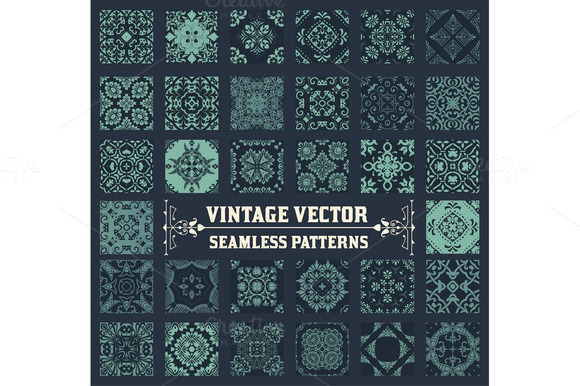 36 Seamless Patterns Background Coll