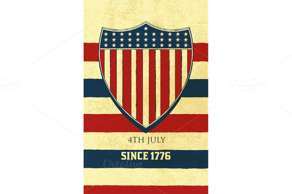Vector American Background Of Indep