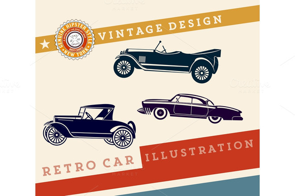 Vector Retro Car Design