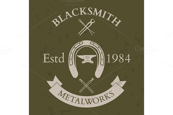 Set Of Vintage Blacksmith Label