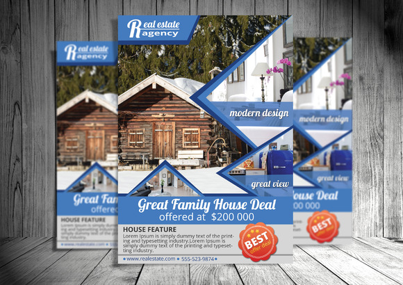 Real Estate PSD Flyer