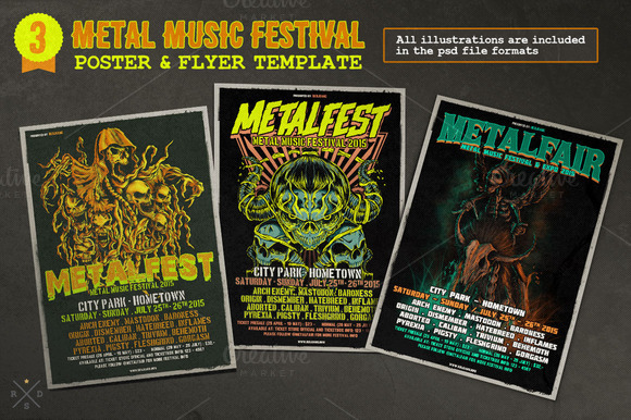 Metal Music Festival Poster Flyer