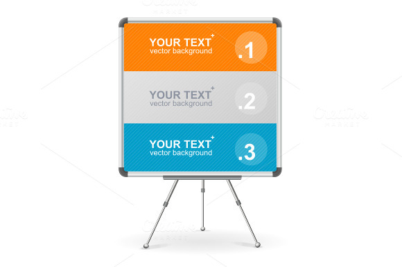 Vector Colorful Board Option Banner