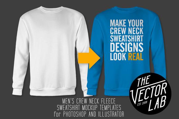 Men S Crew Neck Sweatshirt Templates