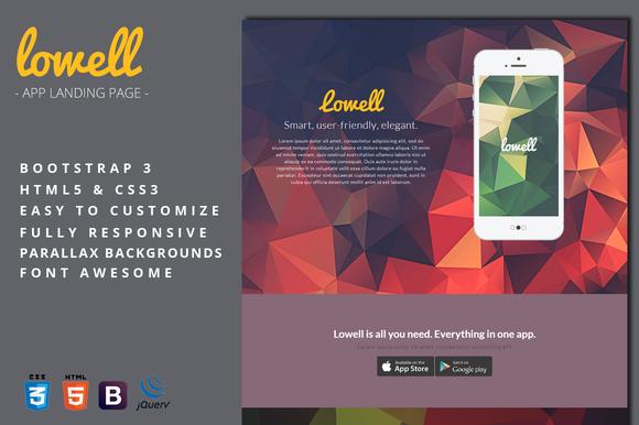 Lowell App Landing Page