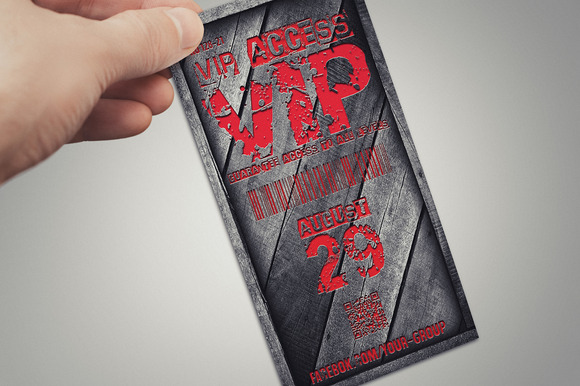 Stylish Wooden VIP PASS Card