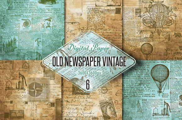 Old Newspaper Vintage Digital Paper