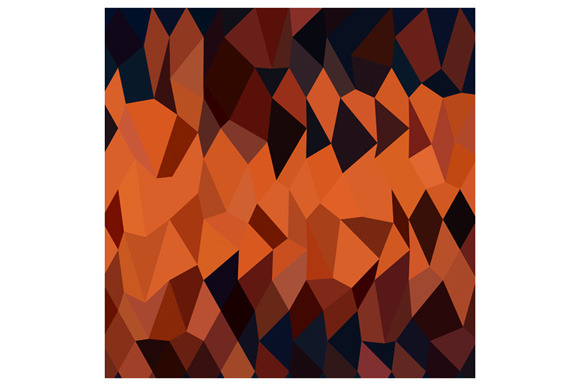 Persimmon Orange Abstract Low Polygo