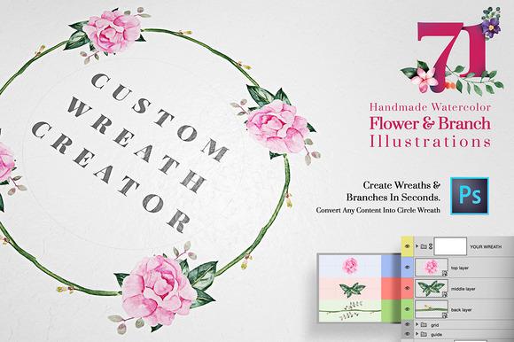 Custom Wreath Creator With Flowers