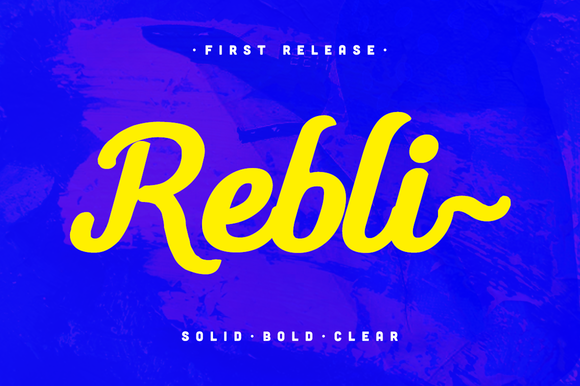 Rebli ~ Solid Bold Typeface
