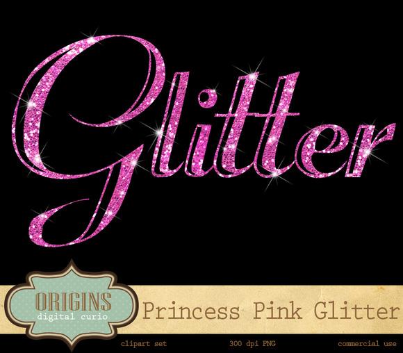Pink Glitter Alphabet Clipart