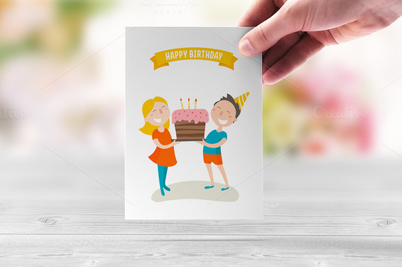 Happy Birthday Flat Illustration