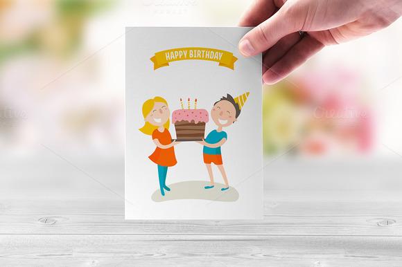 Happy Birthday Flat Illustration