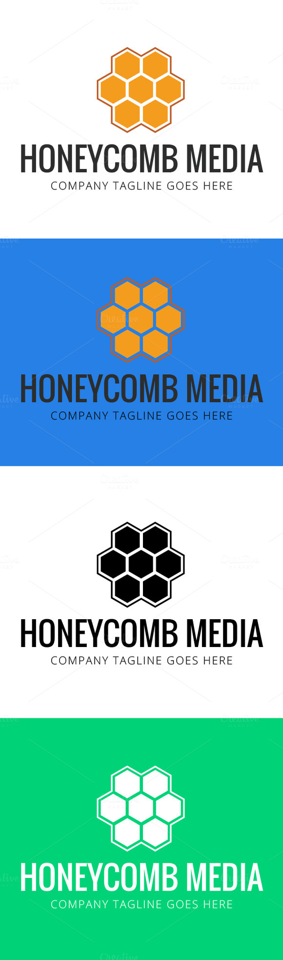 Honeycomb Logo Template