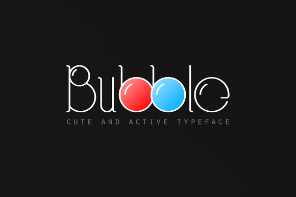 Bubble Typeface