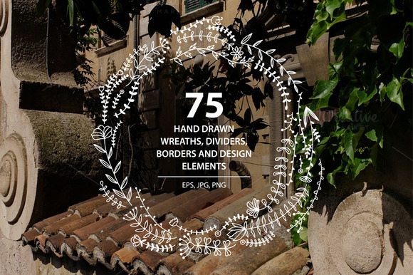 75 Hand Drawn Design Elements