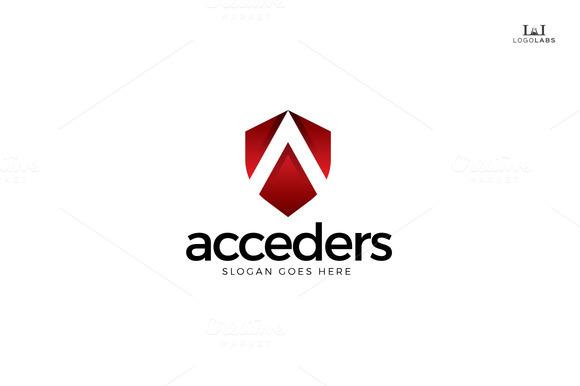 Acceder Letter A Logo