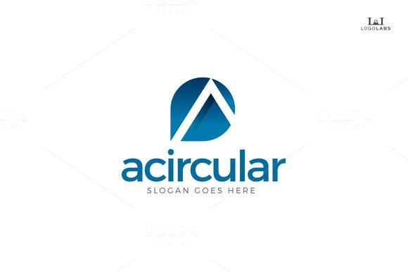 Acircular Letter A Logo