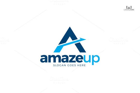 Amaze Up Letter A Logo