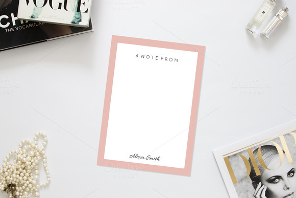 Simply Chic Note Card Template