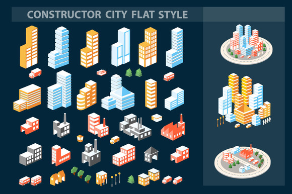 A Large Set Of Isometric Buildings