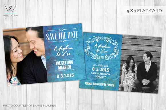 Save The Date Watercolor Card