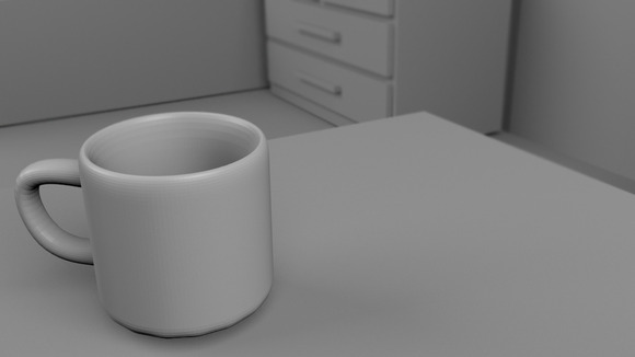 A Cup 3D Rendered