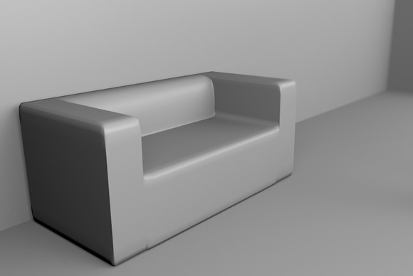 A Sofa 1 3D Rendered