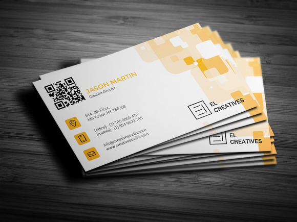 Creative Orange Business Card