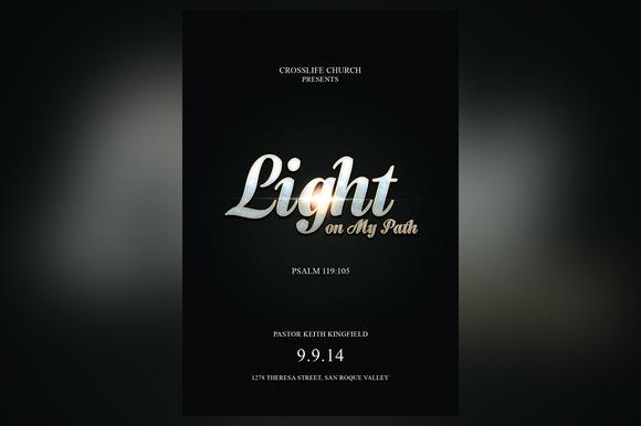 Light On My Path Church Flyer