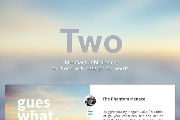 Two Premium Tumblr Theme