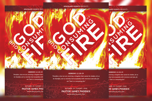 Consuming Fire Church Flyer