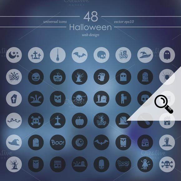 48 HALLOWEEN Icons