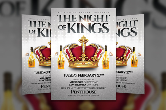 The Night Of Kings Flyer Template