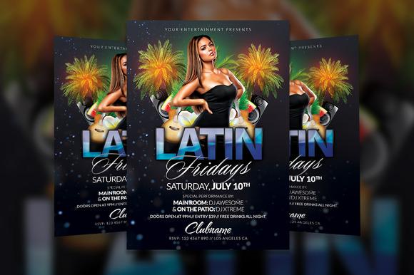 Latin Fridays Flyer Template