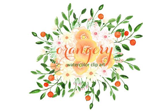 Orangery Watercolor Clip Art