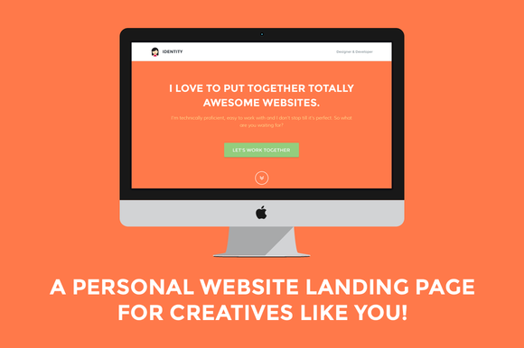 Identity Personal Site Landing Page
