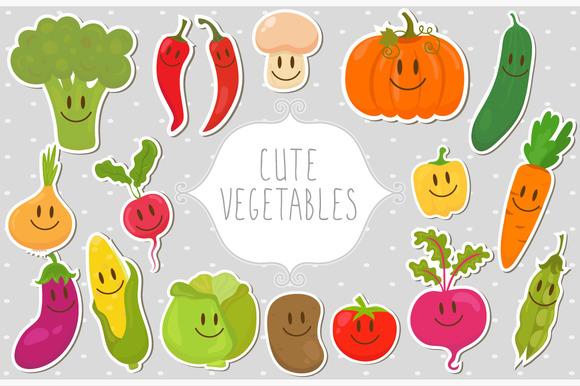 Cute Fresh Vegetables