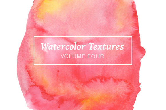 Red Pink Watercolors Volume 4