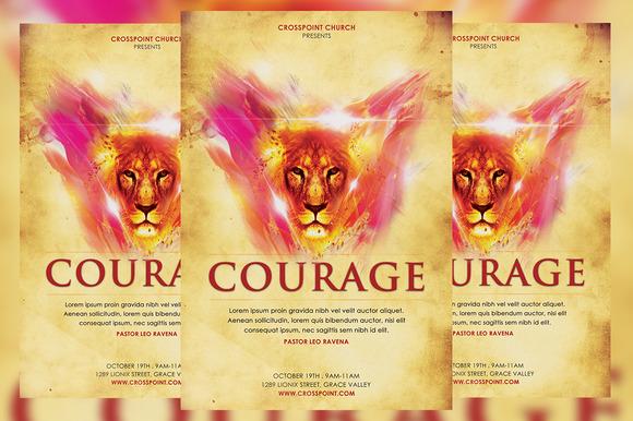 Courage Church Flyer