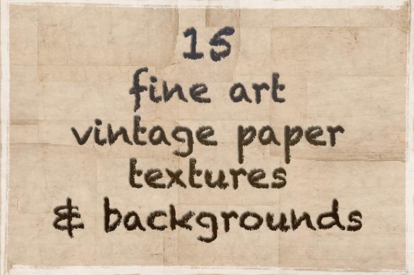 15 Vintage Paper Textures