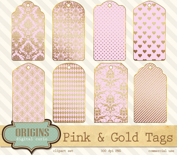 Pink And Gold Printable Gift Tags