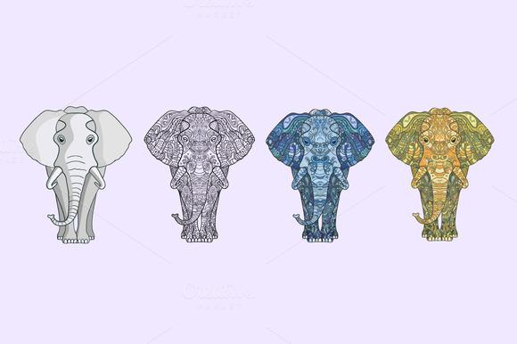 Four Vector Elefants